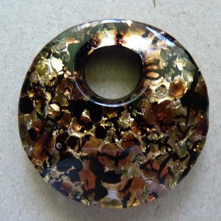Подвеска муранское (венецианское) стекло арт.  159, диаметр 4 см.